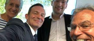 Selfie mit dem Wirtschaftsminister Dr. Volker Wissing