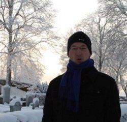 Sebastian Baumbach in Schweden zur Winterzeit